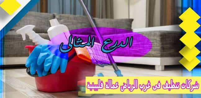 شركات تنظيف فى غرب الرياض عمالة فلبينية
