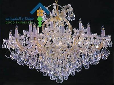 شركة تنظيف ثريات كريستال بالبخار شرق الرياض